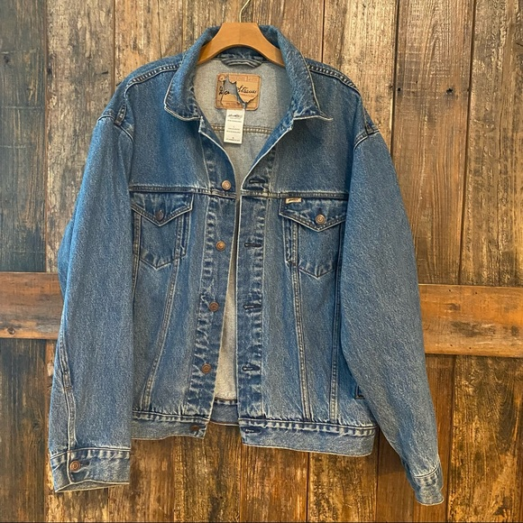 Levi's L Vintage Blue Unisex Denim Trucker Jacket